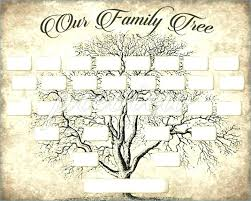 Printable Family Tree Template Printable Family Tree Template Large