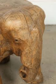 thai elephant stool hand carved wood for