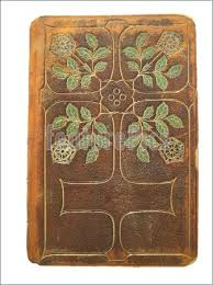 fancy old leather book cover