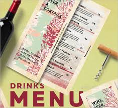 54+ Drink Menu Templates Free Psd, Word Design Ideas