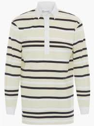 jw anderson striped rugby jersey polo shirt
