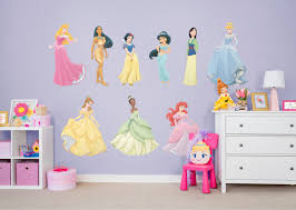 disney princess collection large officially licensed removable wall graphics wall decal fathead for disney princesses decor