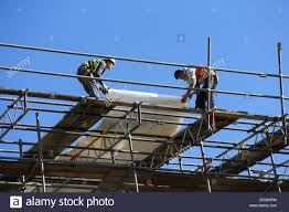 Scaffold Builders Builders High Up Working On Scaffold Stock Photo 60603869