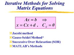 iterative methods for solving matrix equations
