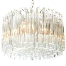 ideas glass prism chandelier and glass prism chandelier by for 95 prism framed mercury glass lovely glass prism chandelier