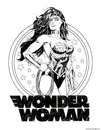 Print Wonder Woman For Adult Dc