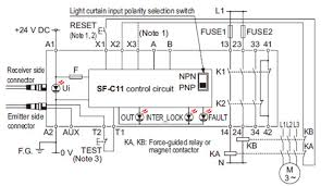 light curtain type 2 sf2b ver 2 i o circuit and wiring diagrams Pnp Wiring Diagram sf c11 sf2b series wiring diagram (control category 2) pnp output type pnp npn wiring diagram