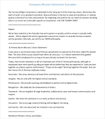 Personal Value Statement Examples Amazing 48sample Personal Mission Statements Statement Letter