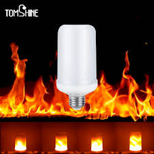 Flame Effect Light Bulb Uk Us 9 89 37 Off Led Flame Effect Fire Light Bulb E27 2835 Creative Decorative Atmosphere Lamp Flickering Light Bulb For Party Holiday New Year In Led