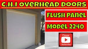 flush panel garage doorGarage Doors  Ac29ec2a1chi Model Flush Panel Garage Door Youtube