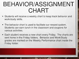 Classroom Assignment Chart Fourth Grade Curriculum Night Ppt Download