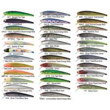 Vintage Bomber Lure Color Chart Fishin Com Tackle List For Inshore And Nearshore Georga
