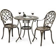 outdoor 3 piece patio furniture bistro