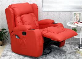 electric recliner chairs for the elderly. Real Leather Recliner Chair In Bright Red Electric Chairs For The Elderly E