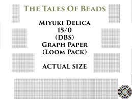 15 0 Miyuki Delica Beading Graph Paper Actual Size Seed Bead Etsy