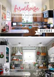 Kitchen Backsplash Diy Diy Farmhouse Kitchen Backsplash By Robb Restyle