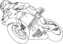 Coloriage Moto De Course Imprimer