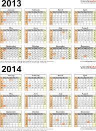two year calender 28 year calendar 2014 template 2013 2014 calendar free printable