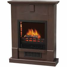 decor flame electric space heater fireplace with 28 mantle dark chocolate