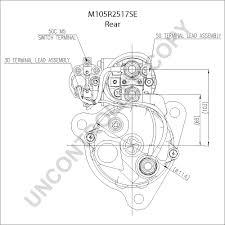 M105r2517se rear dim drawing