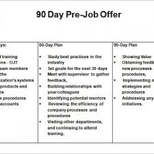30 60 90 Day Business Plan Excel Template Free 30 60 90 Day Sales