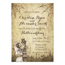 Halloween Wedding Invitations Halloween Wedding Invitation With Skeleton Couple Zazzle Com