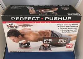 Perfect Pushup Exercise Chart Details About Original Perfect Pushup Rotating Bases Instructional Poster Exercise Chart Dvd
