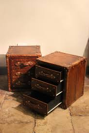 Luggage With Drawers Great Pair Of Bespoke Leather Chest Of Drawers Leather Trunks