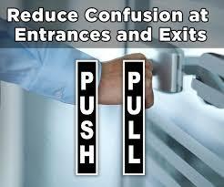 push pull signs for doors guaranteed