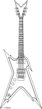 Small Picture Download Coloring Pages Guitar Coloring Page Rock Star Guitar