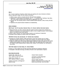 dietitian resume clinical dietitian informaticist resume example http