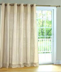 sliding glass door curtain rod rods for doors with vertical blinds how to hang curtains over that stick out what size brackets