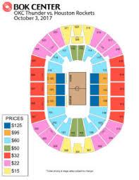 Okc Thunder 2017 Seating Bok Center