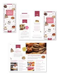 What Is A Pamphlet Sample Bakery Pamphlet Sample Cake Sweet Icecream Candy Shop Flyer Template