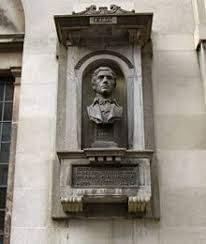 charles lamb  monument to charles lamb at watch house on giltspur street london