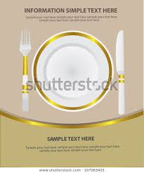 Dinner Place Settingvector Stock Vector Royalty Free 107063402