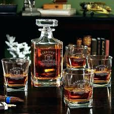 custom whiskey glasses custom whiskey glasses custom whiskey decanter monogram custom whiskey glasses and decanter set