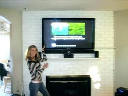 mounting a tv over a fireplace into brick mounting on brick fireplace mount on fireplace brick mounting a tv over a fireplace into brick
