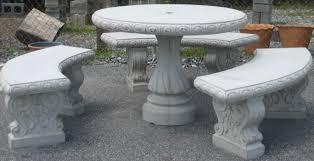round concrete table with benches ideas concrete patio