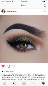 olive green eyeshadow look makeup