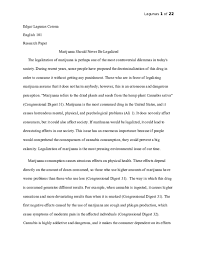 Drug Legalization Essay Doc Marijuana Should Not Be Legalized Edgar Crown