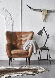 in a beautiful vintage inspired outback tan leather the tobin chair will add character to your home