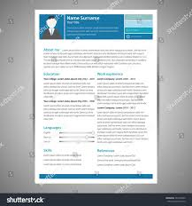 Resume Minimalist Cv Template With Flat Design Items Royalty Free