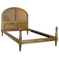 Elegant French Cane Bed, WD27 at 1stdibs