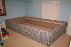 diy upholstered bed. Completed Upholstered Bed Frame Diy U