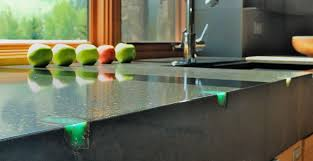 concrete countertop with stone inlay by fu tung cheng concrete exchange