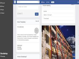 Facebook Bootstrap Template Free