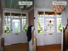 front door makeover before after