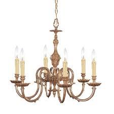 crystorama 2606 ob novella 6 light chandelier