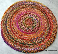 image 0 braided circle rug round rugs canada meditation mat beautifully textured braided round rug from upholstery fabrics by circle cotton